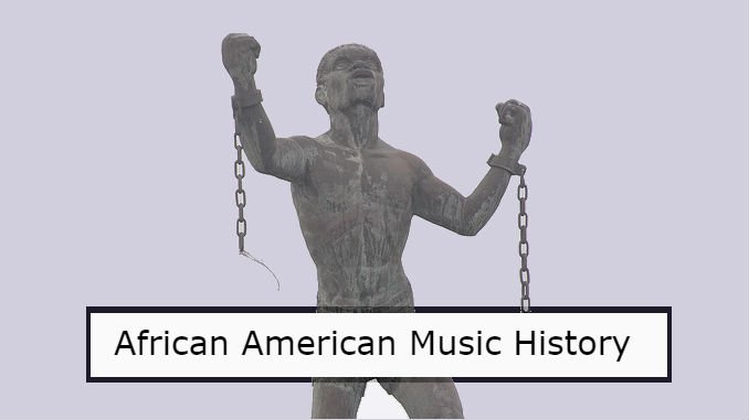 African American music history feature image of slave breaking his chains