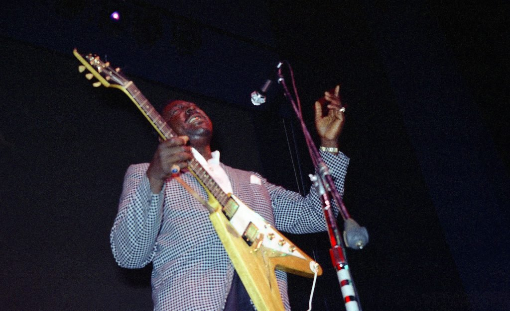 Albert King, one of the three kings of blues guitar and one of the greatest players in history