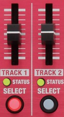The RC-30 looper control sliders