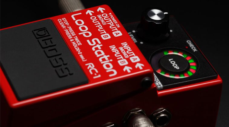 The best guitar looper pedals featured image of the Boss RC-1 on play back