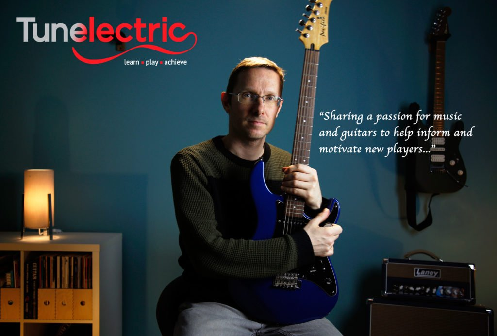 Tunelectric Founder Rob Cox with guitar