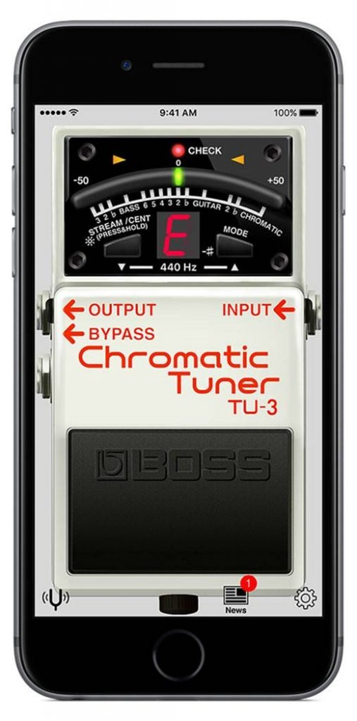 The Boss tuner app available for smart phones